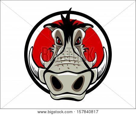 Wild boar Logo Mascot Hog Sport Team