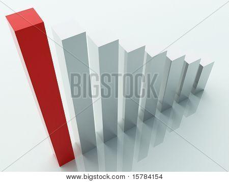 three dimensional stat background