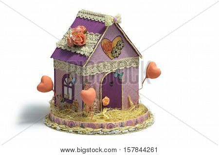 Model of paper house. house building loan real estate or buying a new home.