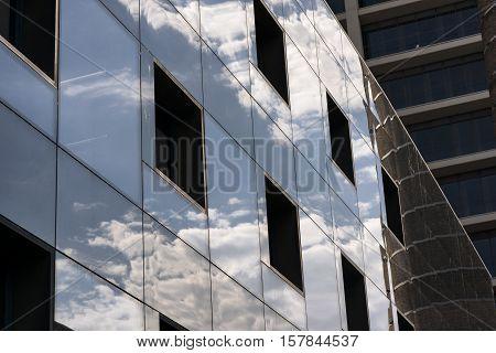 BARCELONA, SPAIN - JULY 11, 2016: Barcelona (Catalunya Spain): modern building in the Avinguda del Paral-lel
