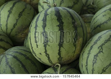 Watermelon have spear shape and texture of nature