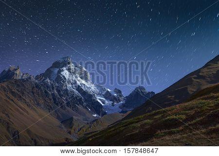 Night View Of Mt. Ushb