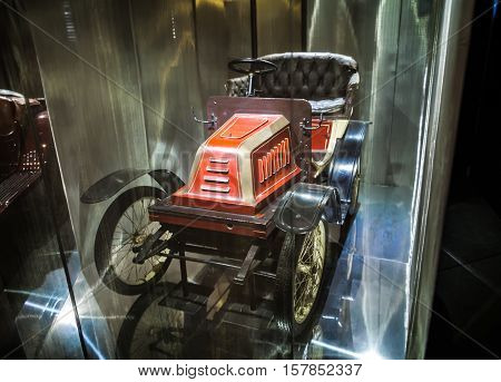 Milan, Italy - June 9, 2016: Vintage Car At The Science And Technology Museum Leonardo Da Vinci