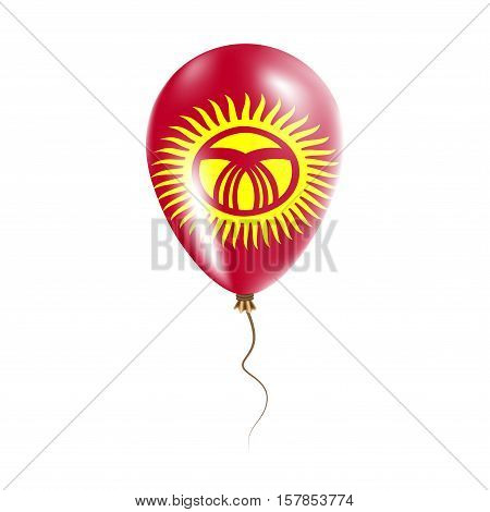 Kyrgyzstan Balloon With Flag. Bright Air Ballon In The Country National Colors. Country Flag Rubber