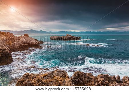 Fantastic Spring Sunrise On The Cape Milazzo