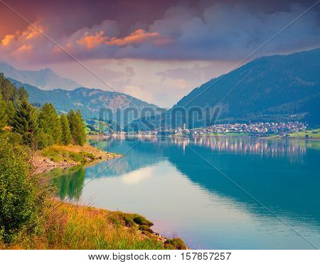 Colorful Summer Morning On The Resia Lake