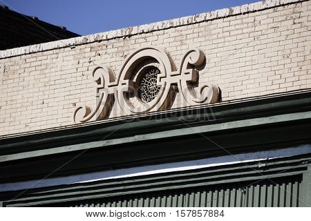Close up of detail on building in Memphis.
