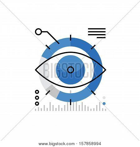 Marketing Vision Monoflat Icon.
