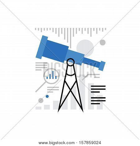 Marketing Research Monoflat Icon.