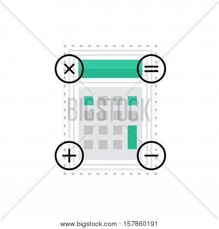 Calculation Monoflat Icon.