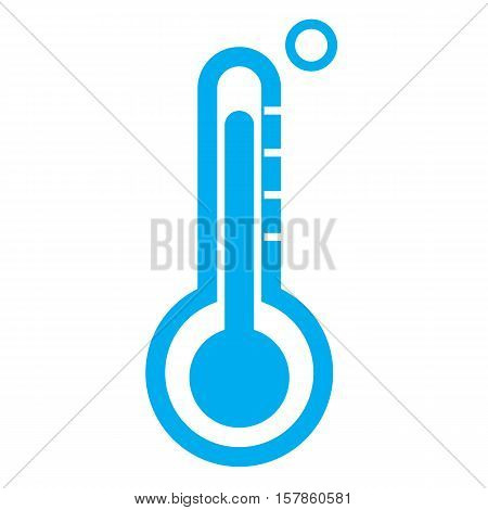 thermometer icon on white background. thermometer symbol.