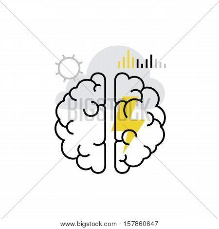 Brain Storming Monoflat Icon.