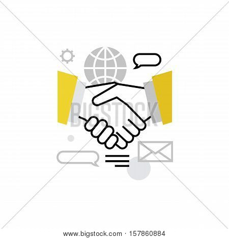 Partners Cooperation Monoflat Icon