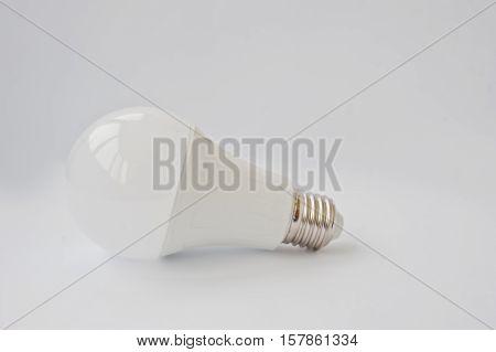 Led Bulb 120 V 12 Watt E27 On White Background.