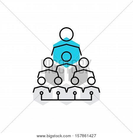 Company Hierarchy Monoflat Icon.