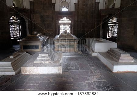 DELHI, INDIA - FEBRUARY 13 : Isa Khan tomb, Humayun's tomb complex, Delhi, India on February 13, 2016