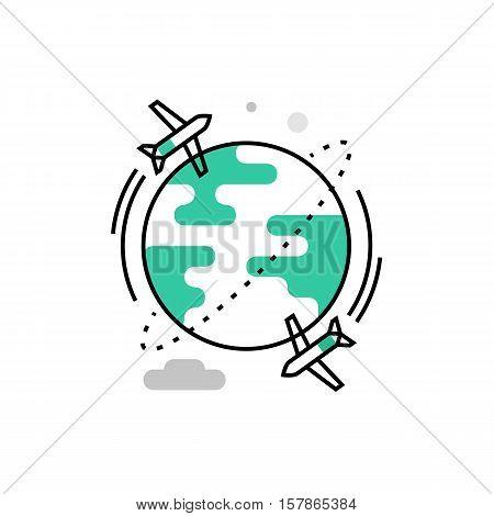 Airplane Travel Monoflat Icon.