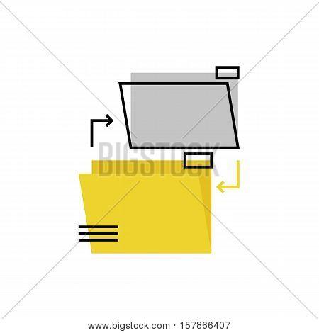 Files Exchange Monoflat Icon.