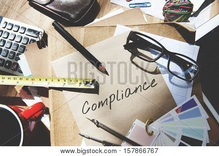 Compliance Policy Procedure Conformity Obedience Concept