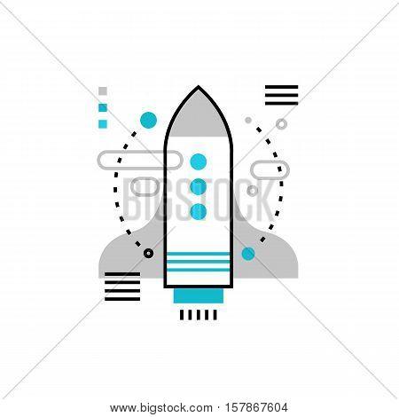Start Up Launch Monoflat Icon.