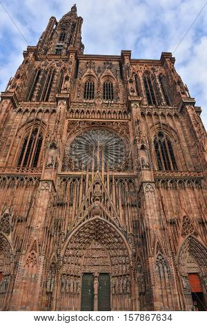 Cathedral Notre Dame Of Strasbourg, Bas Rhin, Alsace
