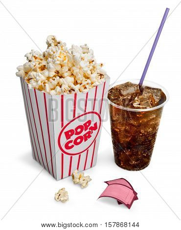 Bucket of Popcorn with Tickets and Coca Cola poster