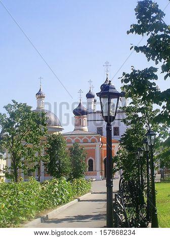 Orthodox Church David deserts. pilgrimage tour. summer.