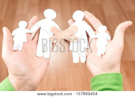 Peaceful family and family problems high quality and high resolution studio shoot