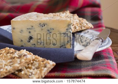 Perl Las or Blue Pearl an organic hand made Welsh blue cheese produced in Carmarthenshire