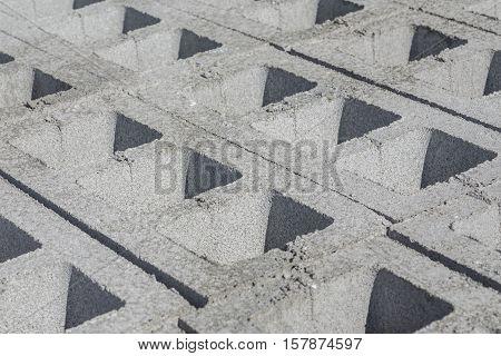 Gray concrete construction of block industrial Photo