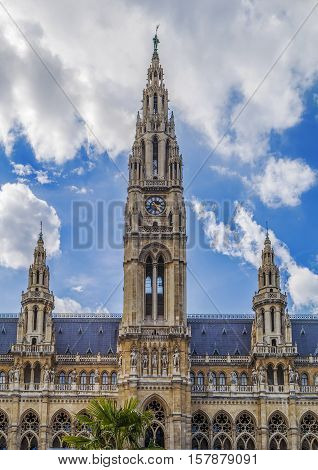 Wiener Rathaus is the city hall of Vienna. Constructed from 1872 to 1883 in a Neo-Gothic style