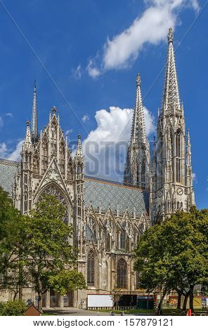 The Votive Church is a neo-Gothic church located on the Ringstrasse in Vienna Austria.