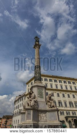 Column Of The Immaculate Conception In Rome