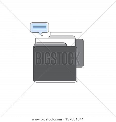 Drawer Business Office Paper Document Box Folder Files Vector Illustration