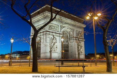 The Triumphal Arch is one of the most visited monuments in Paris.It honors those who died and fought for France.