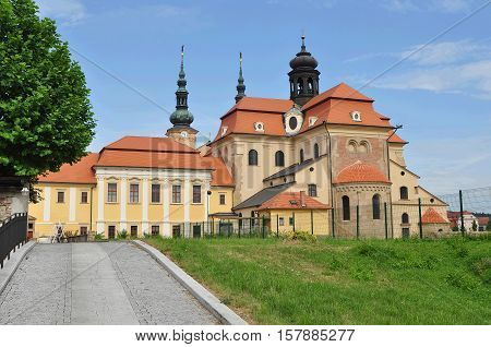 Romanesque basilica in Velehrad, instead the arrival of Cyril and Methodius