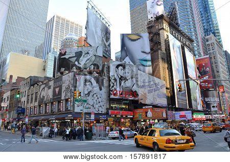 NEW YORK CITY - OCT 4, 2011: Times Square, Broadway, Manhattan, New York City, USA.