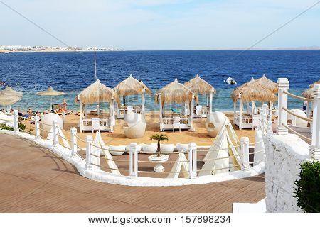 Beach at the luxury hotel Sharm el Sheikh Egypt