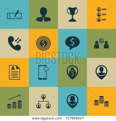 Set Of Human Resources Icons On Tournament, Tree Structure And Bank Payment Topics. Editable Vector