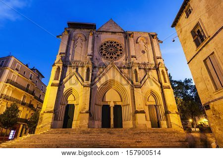 Saint Roch Church in Montpellier. Montpellier Occitanie France.