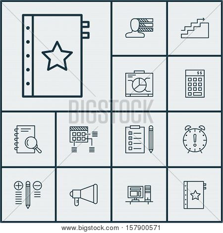 Set Of Project Management Icons On Warranty, Schedule And Time Management Topics. Editable Vector Il