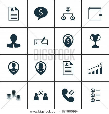 Set Of Human Resources Icons On Job Applicants, Tournament And Pin Employee Topics. Editable Vector
