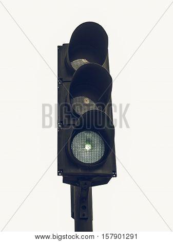 Vintage Looking Traffic Light Semaphore