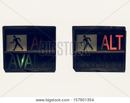 Vintage Looking Red Traffic Light