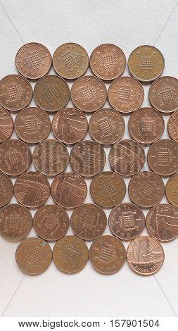 Gbp Pound Coins - Vertical