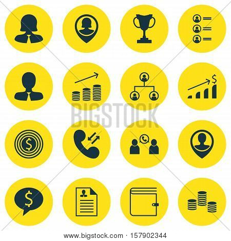 Set Of Hr Icons On Tournament, Employee Location And Manager Topics. Editable Vector Illustration. I