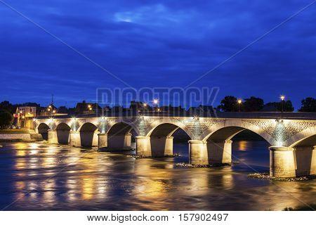 Bridge in Amboise. Amboise Pays de la Loire France