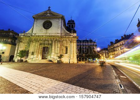 Saint Louis Church in Grenoble . Grenoble Auvergne-Rhone-Alpes France.