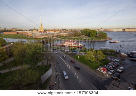 Peter and Paul Fortress, Neva riverat summer in St. Petersburg, Russia