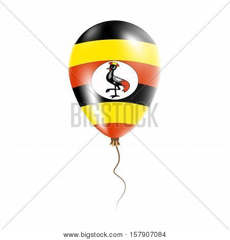 Uganda Balloon With Flag. Bright Air Ballon In The Country National Colors. Country Flag Rubber Ball